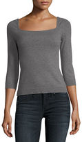 Milly Square-Neck Pullover