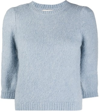 By Ti Mo Rib-Trimmed Knitted Top