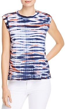 Dolan Printed Cap-Sleeve Top