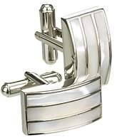 Simon Carter Mother Of Pearl Triple Band Cufflinks, Pearl