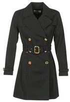 MICHAEL Michael Kors PLEATED TRENCH Black