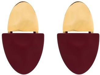 Monica Sordo gold-plated Shah split earrings