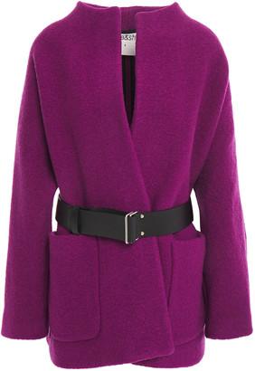 BA&SH Belted Wool-boucle Coat