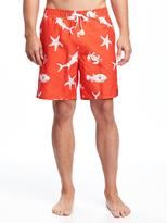 "Old Navy Printed Swim Trunks for Men (8"")"