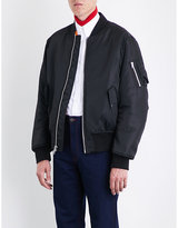 Calvin Klein Shearling-lined shell-twill bomber jacket
