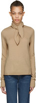 Chloé Brown Neck Tie Sweater