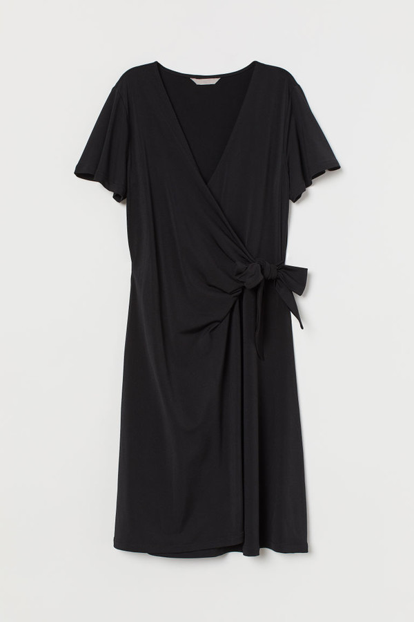 H&M Jersey Wrap Dress - Black