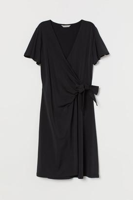 H&M Jersey Wrap Dress - Black