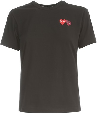 Comme des Garcons Play T-shirt Two Hearts
