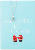 Lydell NYC Snowflake Necklace with Warm Wishes Card