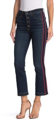 Veronica Beard Carolyn Side Stripe Kick Flare Jeans