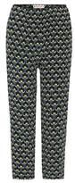 Marni Silk printed cropped trousers