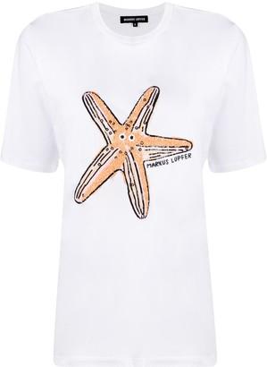 Markus Lupfer sequin Satrfish T-shirt