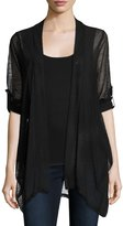Neiman Marcus Lightweight Relaxed Cardigan, Black