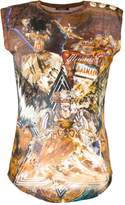 Balmain Wolf print distressed T-shirt