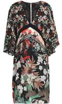 Roberto Cavalli Floral-Print Silk-Chiffon Mini Dress