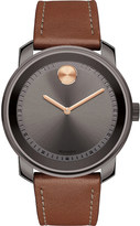Movado 3600378 Bold gunmetal grey ion-plated stainless steel and bull hide watch