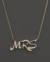 """Bloomingdale's Diamond """"MRS."""" Pendant Necklace in 14K Yellow Gold, .10 ct. t.w."""