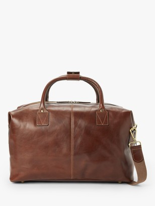 John Lewis & Partners Made in Italy Leather Holdall, Brown