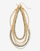 White House Black Market Beaded Multi-Row Short Necklace