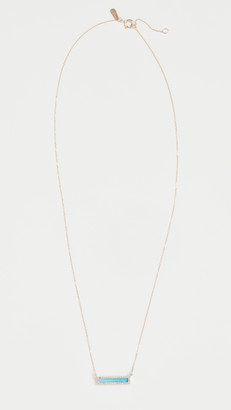 Adina Reyter 14k Turquoise + Diamond Bar Necklace