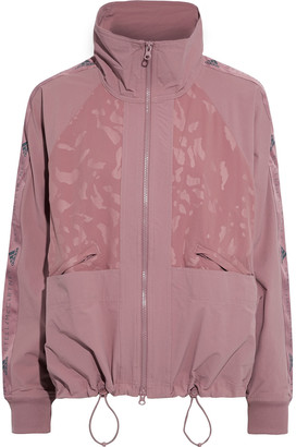 adidas by Stella McCartney Performance Track Paneled Printed Stretch-shell Jacket