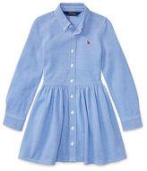 Ralph Lauren 2-6X Knit Cotton Oxford Dress