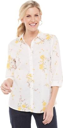 Croft & Barrow Women's Button Down Shirt