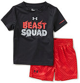 Under Armour Baby Boys 12-24 Months Beast Squad Tee & Shorts Set
