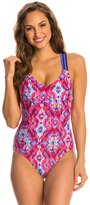 Reebok Zamora Taylor Piped One Piece Swimsuit 8143625