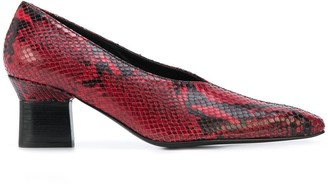 Rosetta Getty Stamped Python Effect Pumps