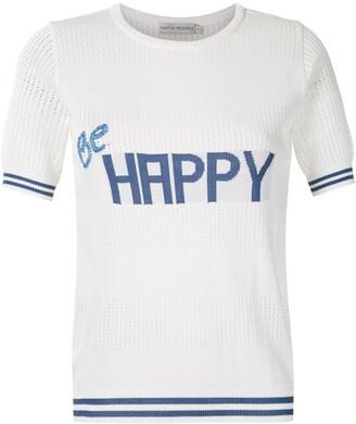 Martha Medeiros Be Happy knit T-shirt