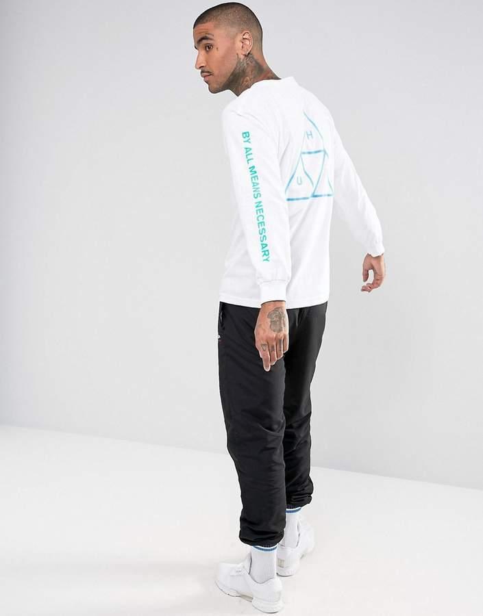 HUF Triple Triange Long Sleeve T-Shirt With Sleeve Print