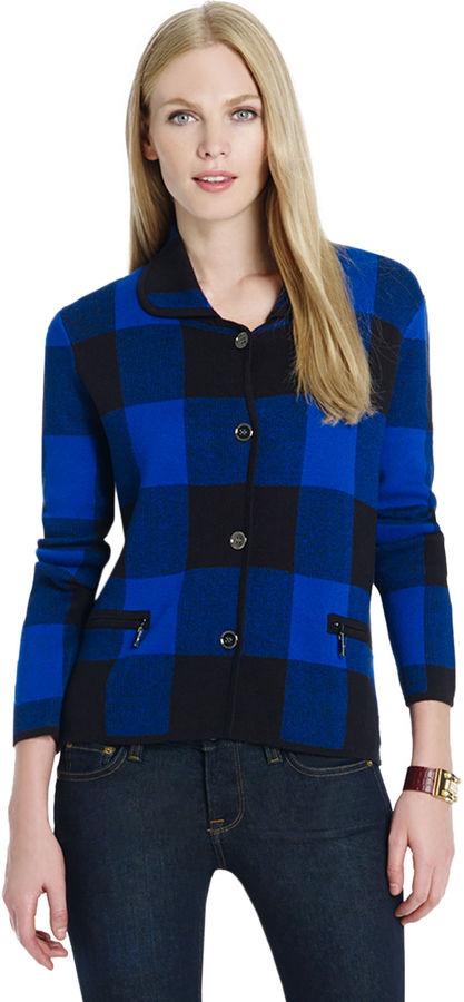 Jones New York Long Sleeve Double-Breasted Jacket