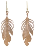 Annette Ferdinandsen Large Rose Gold Feather Earrings
