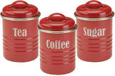 Typhoon Vintage Kitchen Set of 3 Storage Canisters - Red