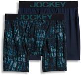 Jockey Men's 2-pack Athletic RapidCool Microfiber Stretch Boxer Briefs