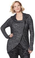 Melissa McCarthy Space-Dyed Asymmetric Jacket