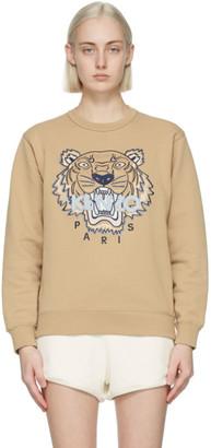 Kenzo Beige Classic Tiger Sweatshirt