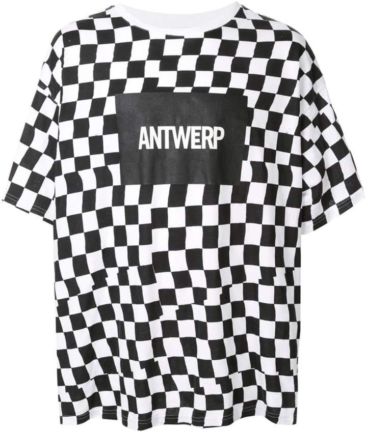 Facetasm checkered logo print T-shirt