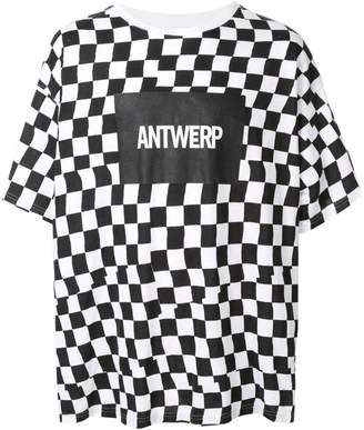 Facetasm checkered logo print T-shirt