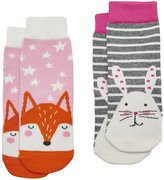 Joules Baby Girls Two Pack Character Socks - Bunny