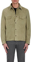 Luciano Barbera MEN'S SUEDE SHIRT JACKET