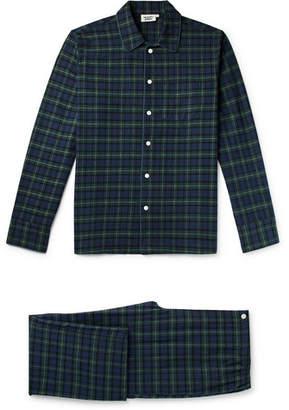 Sleepy Jones Henry Checked Cotton-Flannel Pyjama Set