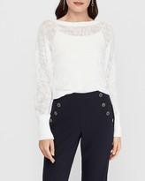 Express Open Stitch Dolman Sleeve Sweater
