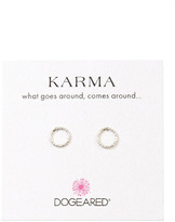 Dogeared Tiny Karma Stud Earrings