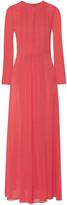 Tory Burch Pleated silk-georgette maxi dress