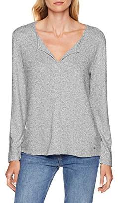 Tom Tailor Women's Langarm Shirt Mit V-auschhnitt T,X-Large
