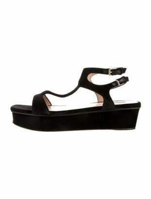 Valentino T-Strap Sandals Black