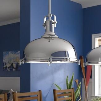 Beachcrest Home Lighthouse Point 1 - Light Single Dome Pendant Color: Chrome